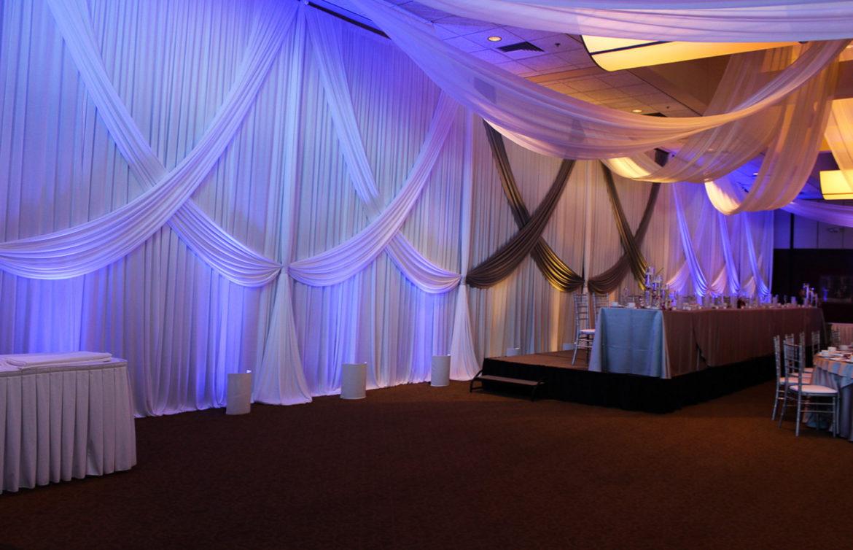 Elegant_Event_Lighting_Chicago_Bobaks_Signature_Events_Woodridge_Wedding_Draping_Backdrop_Blue_LED_Uplighting_White_Silver