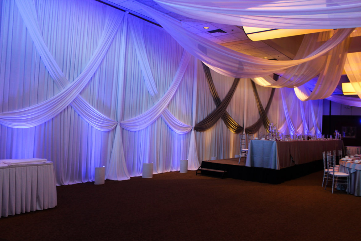 Elegant_Event_Lighting_Chicago_Bobaks_Signature_Events_Woodridge_Wedding_Draping_Backdrop_Blue_LED_Uplighting_White_Silver