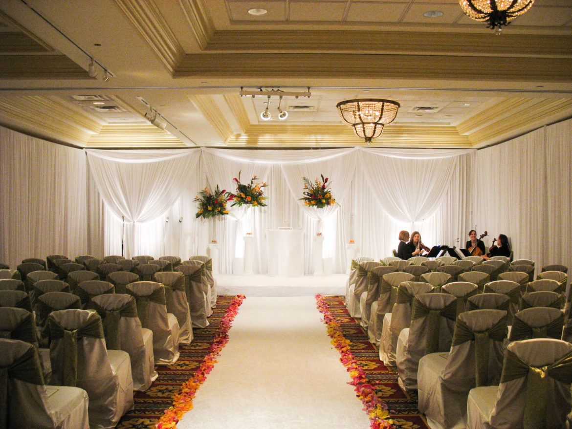 Elegant_Event_Lighting_Chicago_Bolingbrook_Golf_Club_Wedding_Ceremony_Draping_Soft_Uplighting_Backdrop