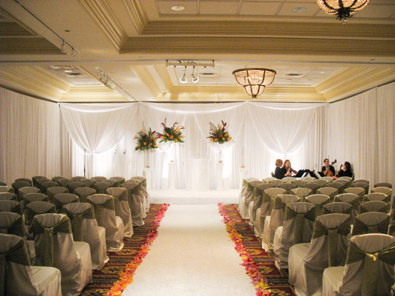 Elegant_Event_Lighting_Chicago_Bolingbrook_Golf_Club_Wedding_Ceremony_Draping_Soft_Uplighting_Backdrop