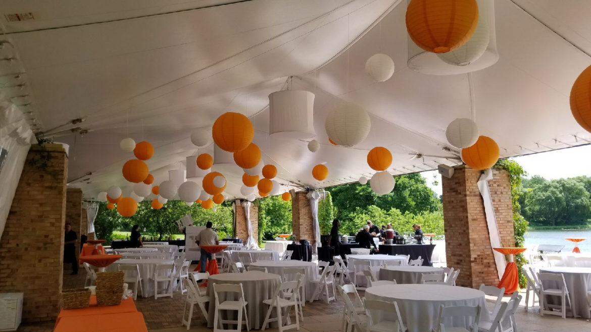 Elegant_Event_Lighting_Chicago_Botanic_Gardens_Glencoe_Wedding_Paper_Lanterns_Orange
