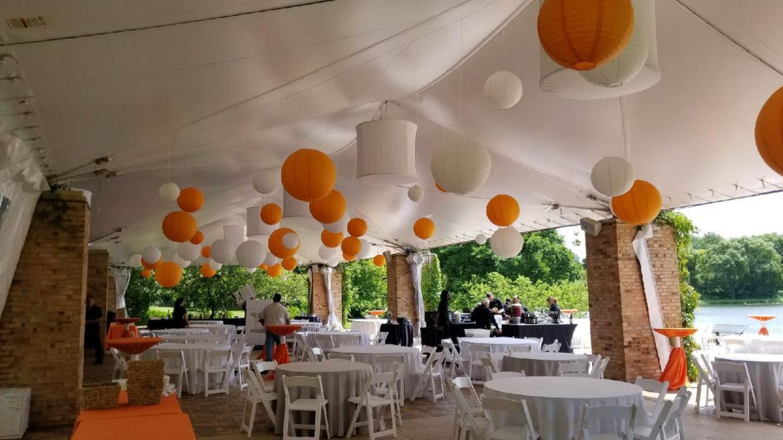 Elegant_Event_Lighting_Chicago_Botanic_Gardens_Glencoe_Wedding_Paper_Lanterns_Orange