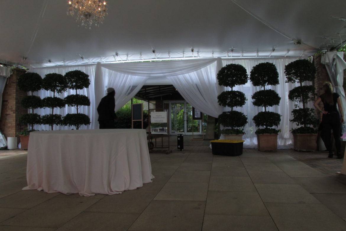 Elegant_Event_Lighting_Chicago_Botanic_Gardens_McGinley_Pavilion_Wedding_Entrance_Draping