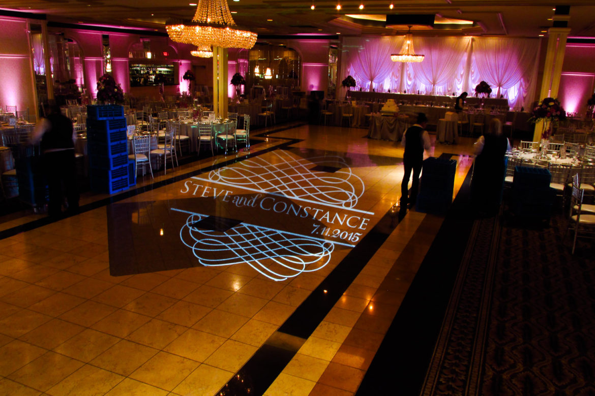 Elegant_Event_Lighting_Chicago_Carlisle_Wedding_Pink_LED_Uplighting_Monogram_Dance_Floor_Lighting