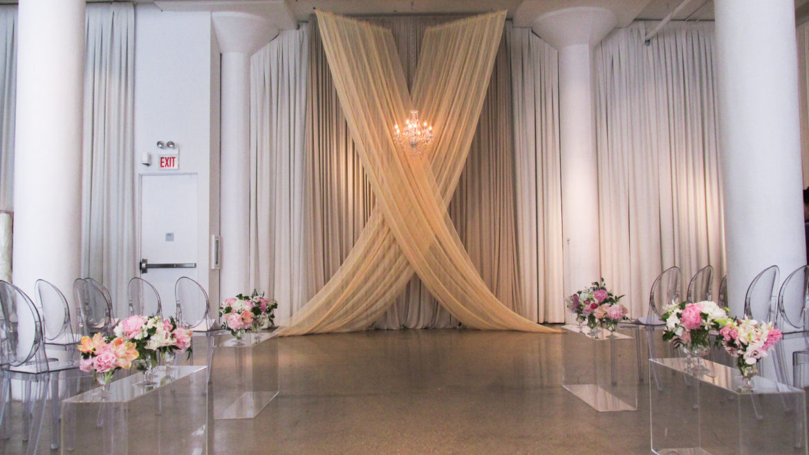 Elegant_Event_Lighting_Chicago_Chez_Wedding_Ceremony_Ivory_Taupe_Crystal_Chandelier