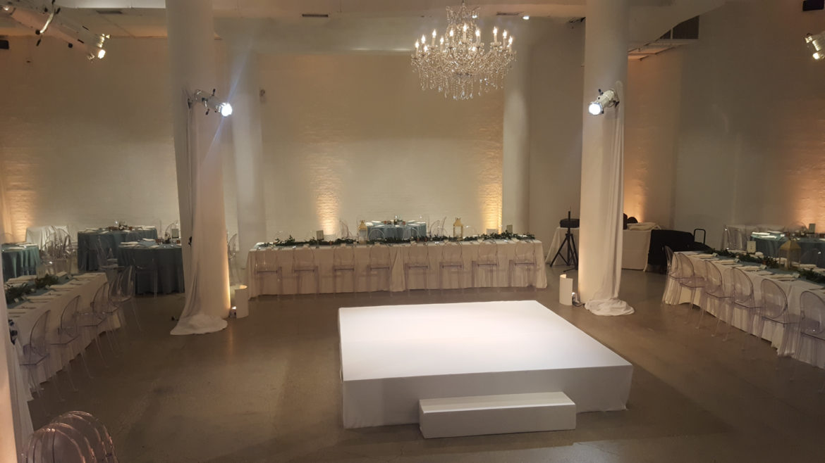 Elegant_Event_Lighting_Chicago_Chez_Wedding_Ceremony_Stage_Cover_Chandelier