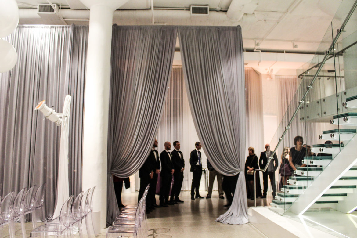 Elegant_Event_Lighting_Chicago_Chez_Wedding_Separtaion_Silver_Draping