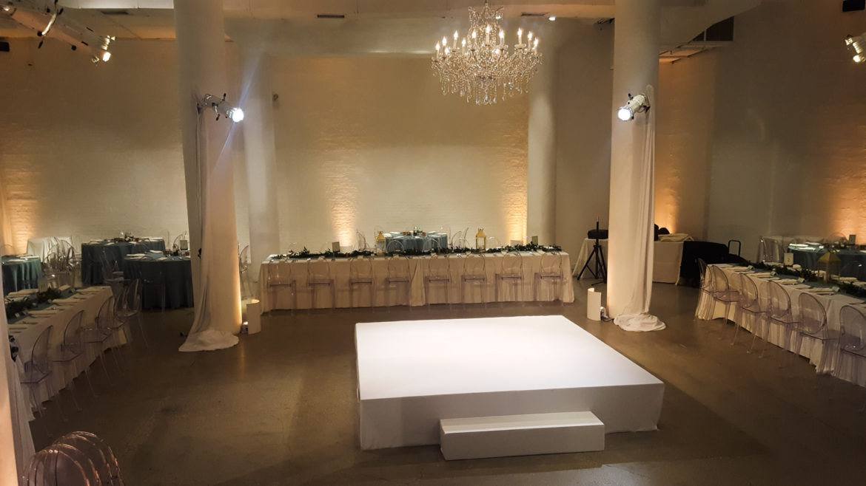 Elegant_Event_Lighting_Chicago_Chez_Wedding_White_STage_Cover_Lighting_Ceremony_Golden_Globe