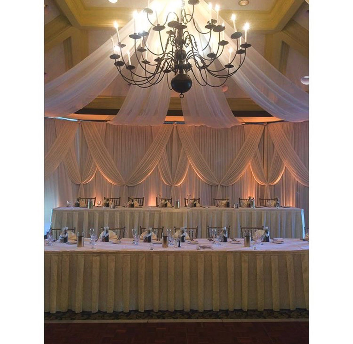 Elegant_Event_Lighting_Chicago_Crystal_Tree_Country_Club_Orland_Park_Wedding_Draping_Backdrop_Ivory_Amber_LED_Uplighting_Ceiling_Drapes