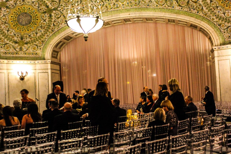 Elegant_Event_Lighting_Chicago_Cultural_Center_Preston_Bradley_Hall_Wedding_Draping_Blush_Pink