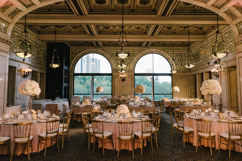 Elegant_Event_Lighting_Chicago_Cultural_Center_Preston_Bradley_Hall_Wedding_Flower_Lighting_Center_Pieces