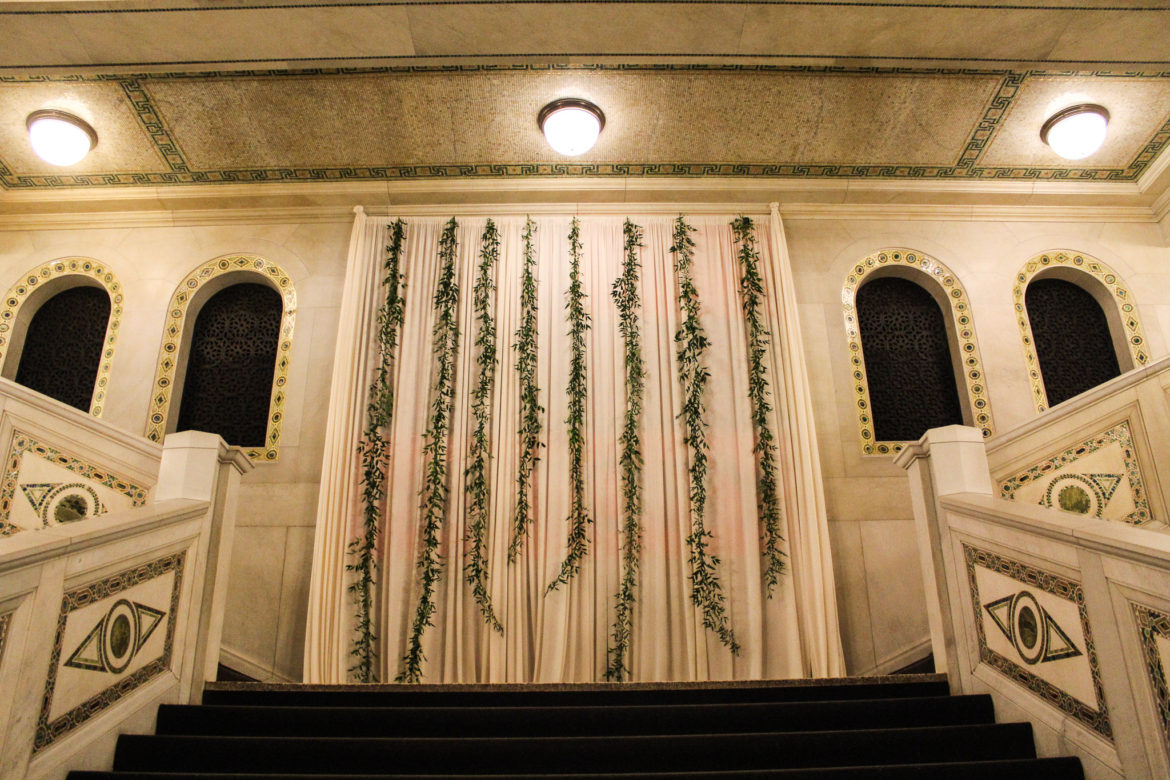 Elegant_Event_Lighting_Chicago_Cultural_Center_Wedding_Ivory_Draping