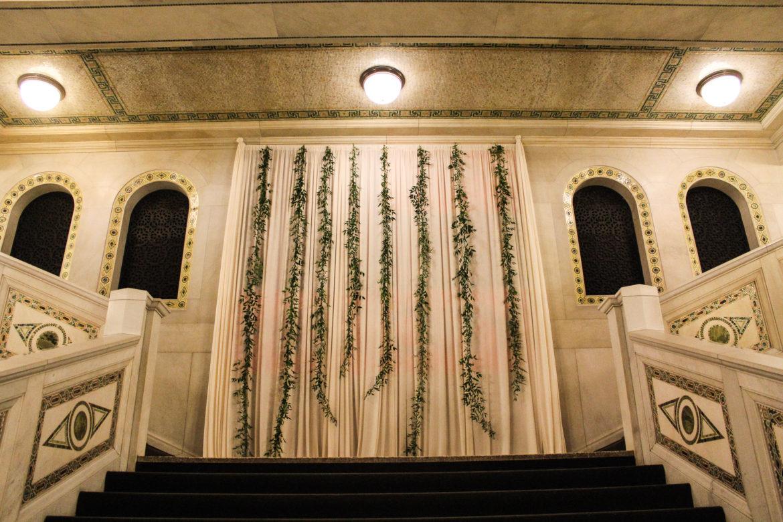 Elegant_Event_Lighting_Chicago_Cultural_Center_Wedding_Ivory_Draping