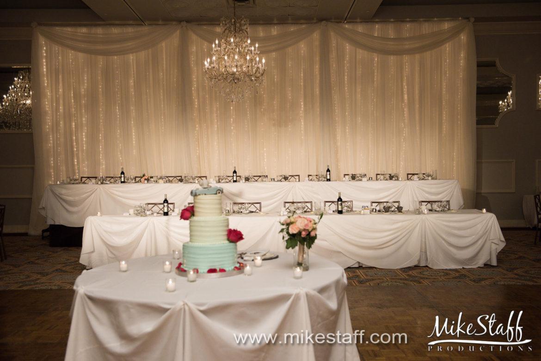 Elegant_Event_Lighting_Chicago_Drury_Lane_Oak_Brook_Wedding_Pin_Spots_Twinkle_Lights_Backdrop
