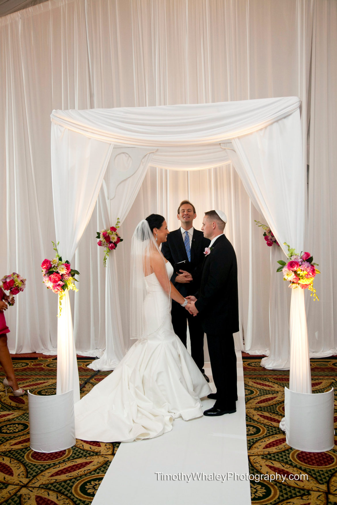 Elegant_Event_Lighting_Chicago_Eaglewood_Resort_Spa_Itasca_Wedding_Bridal_Canopy_Chuppah_White_Draping_Backdrop_Ceremony
