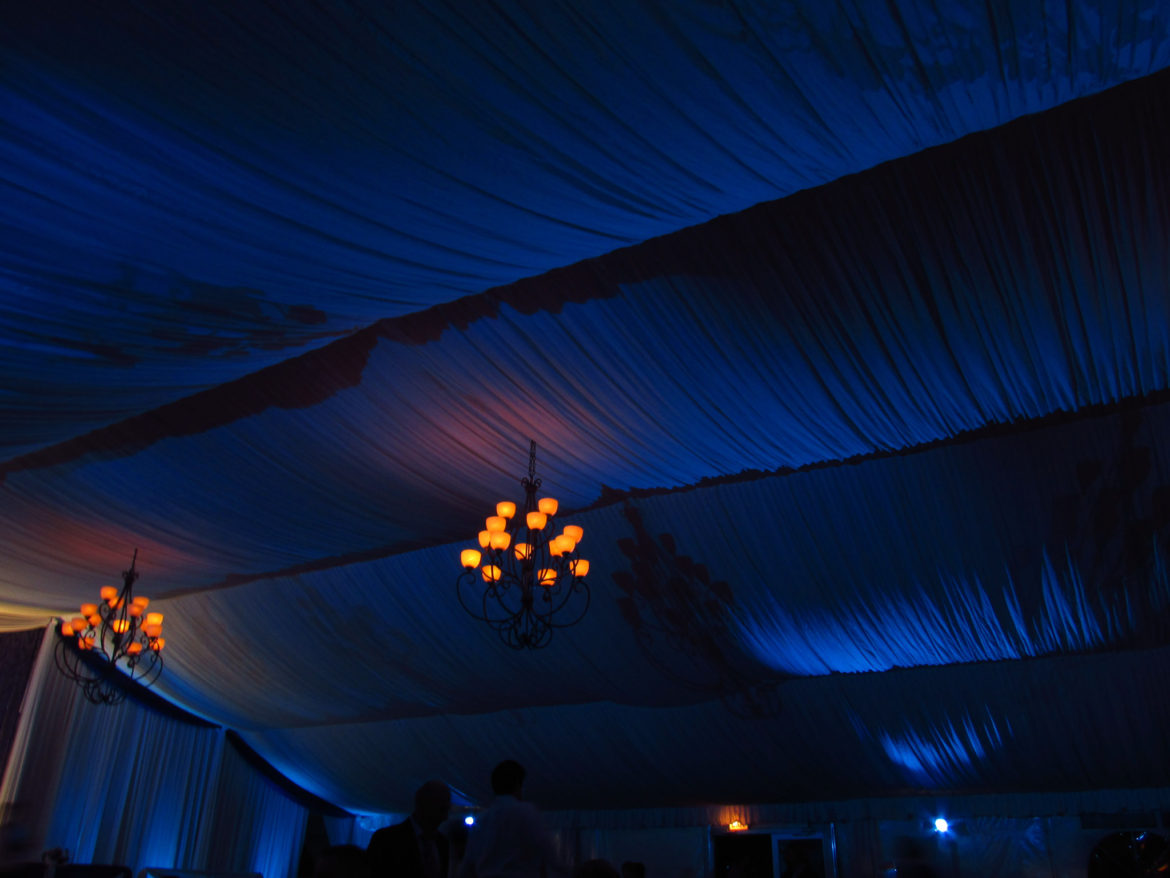 Elegant_Event_Lighting_Chicago_Eaglewood_Resort_Spa_Itasca_Wedding_Ceiling_Lighting_Blue_Cobalt