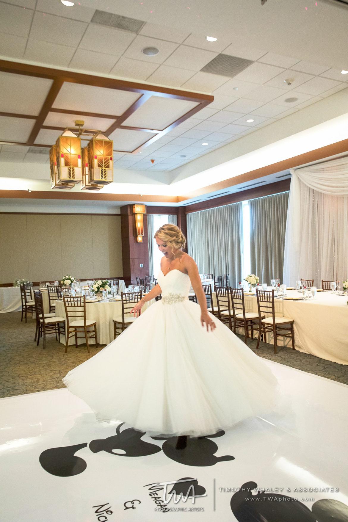 Elegant_Event_Lighting_Chicago_Eaglewood_Resort_Spa_Itasca_Wedding_Disney_Monogram_White_Vinyl_Dance_Floor
