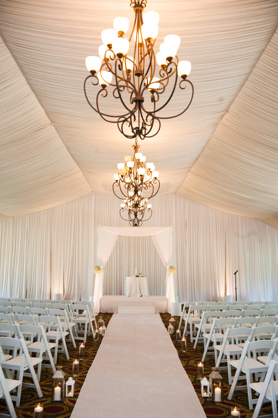 Elegant_Event_Lighting_Chicago_Eaglewood_Resort_Spa_Itasca_Wedding_Draping_White_Tent_Decor_Aisle_Runner_Bridal_Canopy_Lanterns