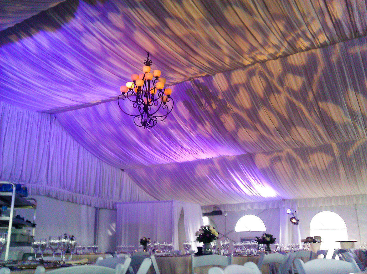 Elegant_Event_Lighting_Chicago_Eaglewood_Resort_Spa_Itasca_Wedding_Pattern_Ceiling_Lighting_Purple_Amber