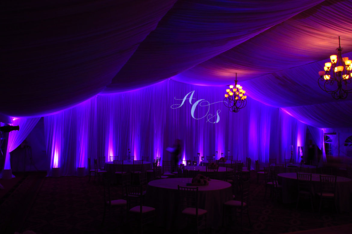 Elegant_Event_Lighting_Chicago_Eaglewood_Resort_Spa_Itasca_Wedding_Purple_Uplighting_Ceiling_Lighting_Purple