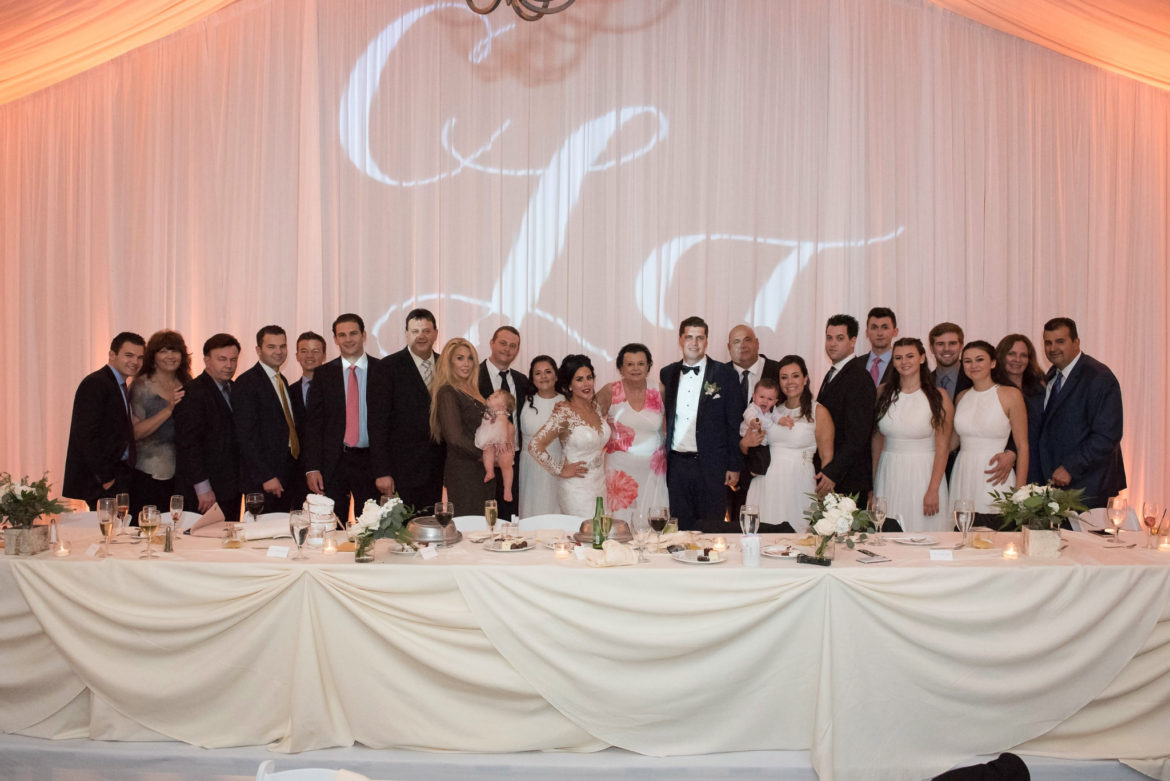 Elegant_Event_Lighting_Chicago_Eaglewood_Resort_Spa_Itasca_Wedding_Reception_Monogram_Amber_Family_Picture