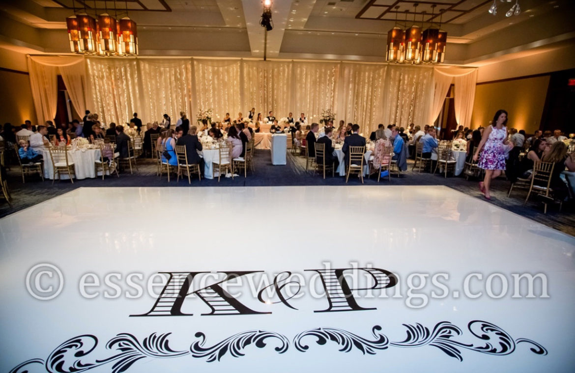 Elegant_Event_Lighting_Chicago_Eaglewood_Resort_Spa_Itasca_Wedding_Twinkle_Light_Backdrop_White_Dance_Floor_Monogram