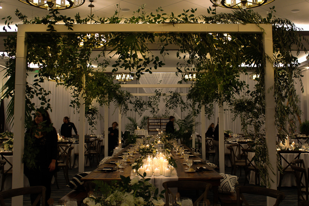 Elegant_Event_Lighting_Chicago_Edgewater_Wisconsin_Wedding_Greenery_Reception_Candles_White_Draping