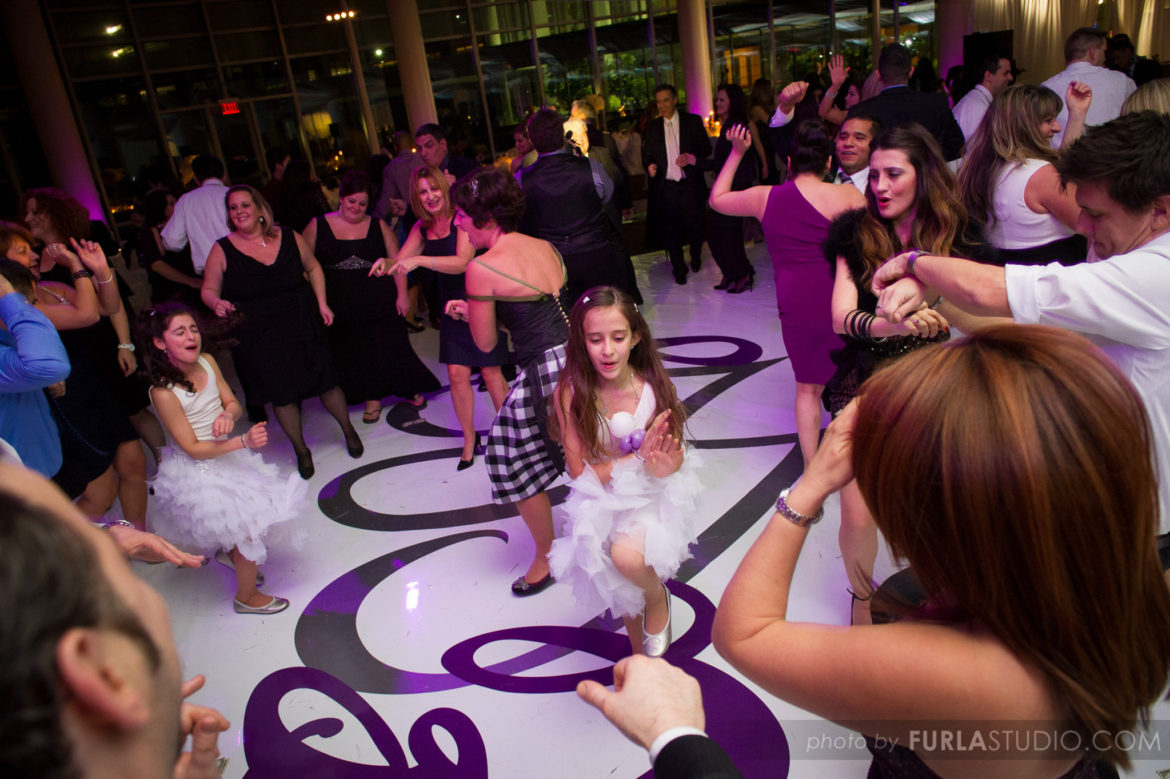 Elegant_Event_Lighting_Chicago_Esplanade_Lakes_Double_Tree_Downers_Grove_Wedding_white_Dance_Floor_Monogram_Reception_Dancing