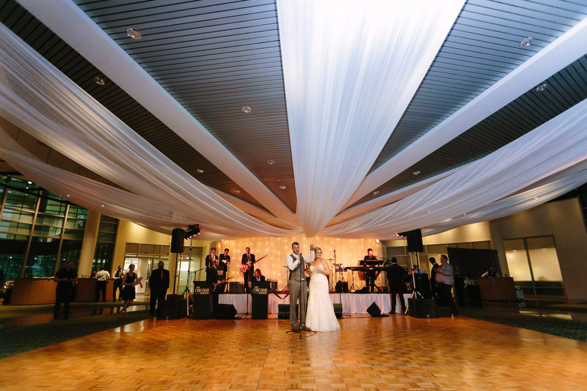 Elegant_Event_Lighting_Chicago_Esplanade_Lakes_Downers_Grove_Wedding_Uplighting_Twinkle_Backdrop_Ceiling_Drapes_Dancing_Couple