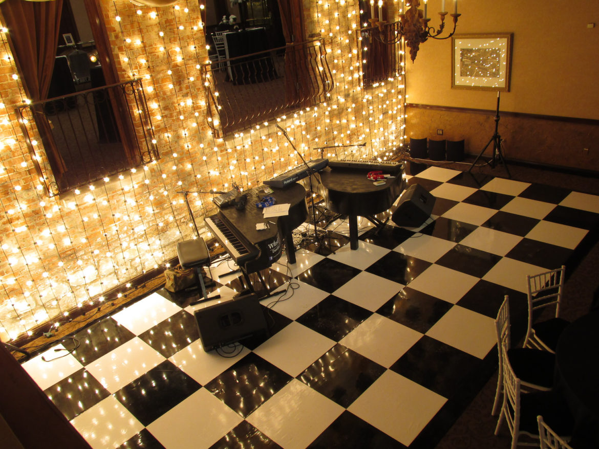 Elegant_Event_Lighting_Chicago_Herrington_Inn_Geneva_Wedding_Black_White_Checkered_Dance_Floor_Gatsby_Vertical_Cafe_Globe_String_lighting.