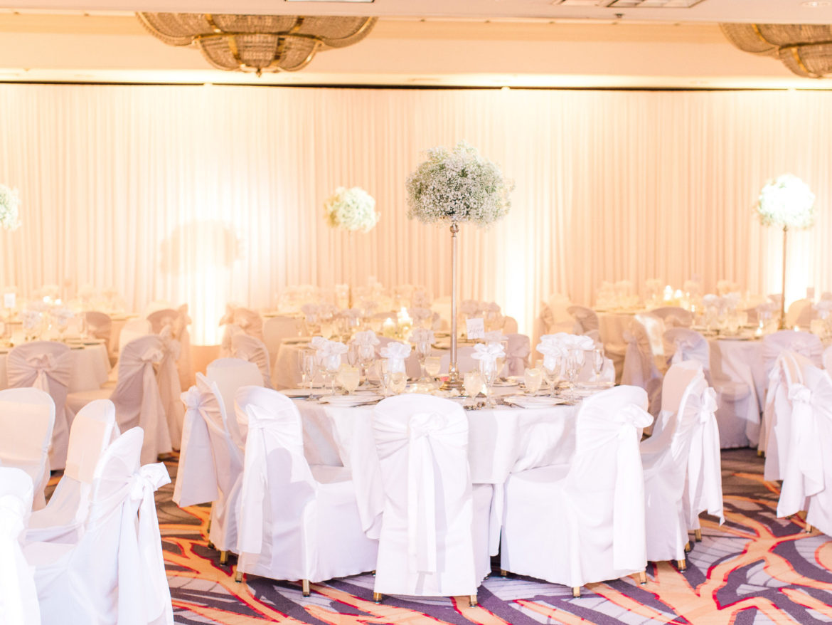 Elegant_Event_Lighting_Chicago_Hilton_Lisle_Naperville_Wedding_White_Room_Draping_Ivory_Draping_Uplighting