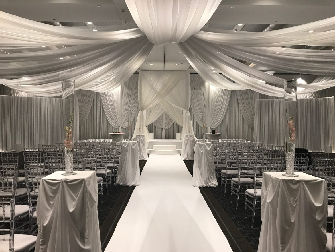 Elegant_Event_Lighting_Chicago_Hotel_Arista_Naperville_Wedding_Backdrop_Ceiling_Drapes_Ceremony_Aisle_Runner_Chuppah