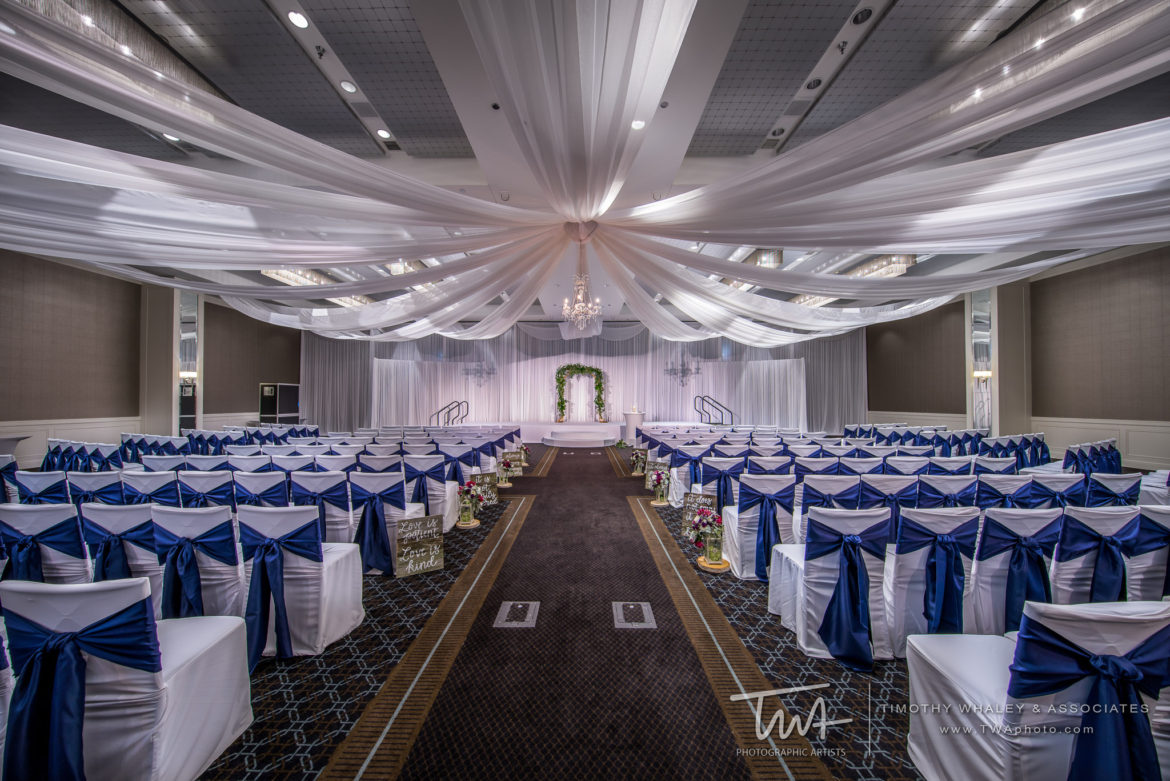 Elegant_Event_Lighting_Chicago_Hotel_Arista_Naperville_Wedding_Backdrop_Ceiling_Drapes_Ceremony_Arch