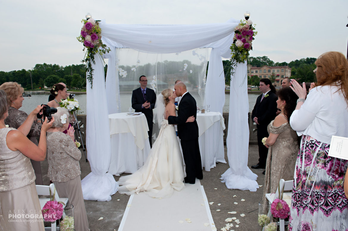 Elegant_Event_Lighting_Chicago_Hotel_Baker_St_Charles_Wedding_Bridal_Canopy_Chuppal_First_Kiss