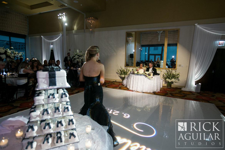 Elegant_Event_Lighting_Chicago_Hotel_Palomar_Wedding_White_Dance_Floor_Spotlight_Sweetheart_Table