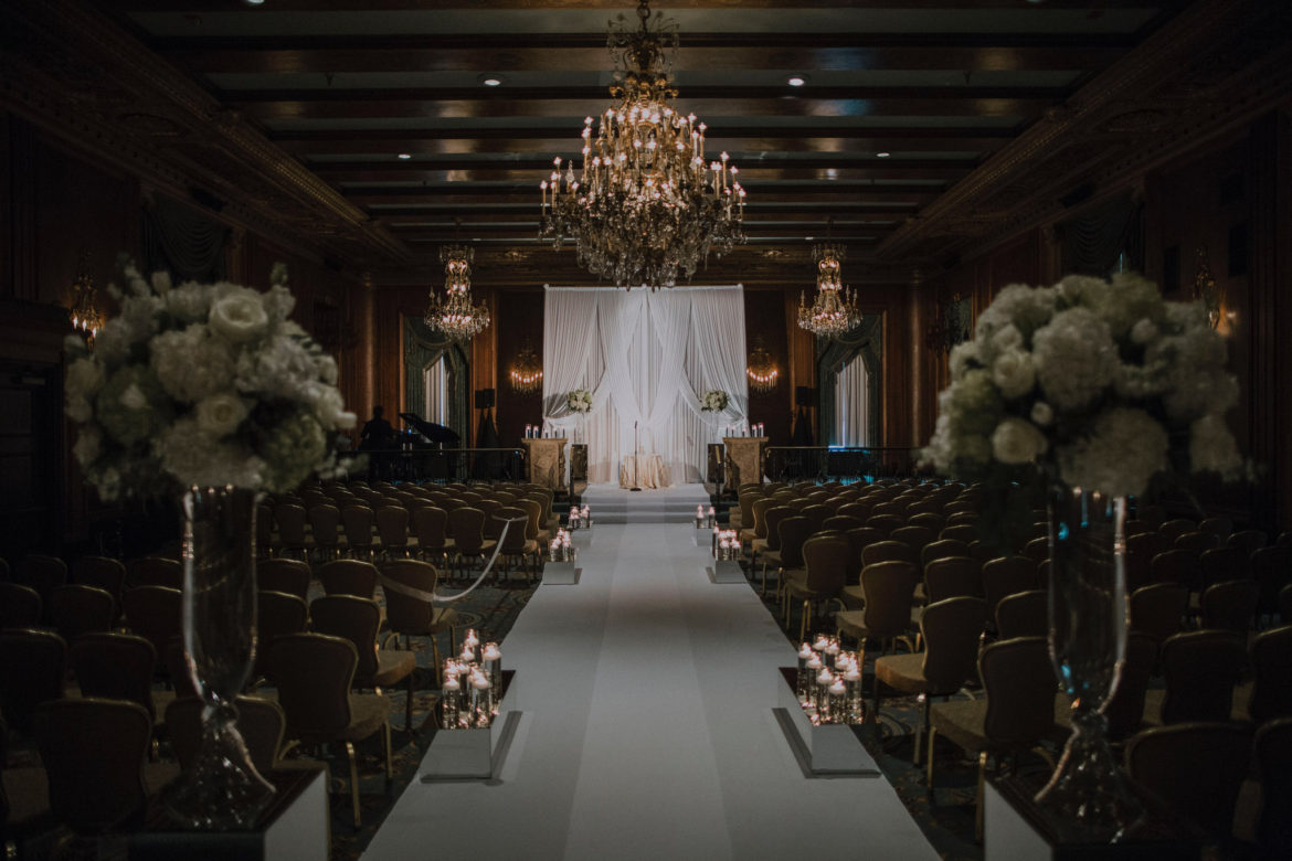Elegant_Event_Lighting_Chicago_Intercontinental_Wedding_Aisle_Runner_Ceremony_Backdrop