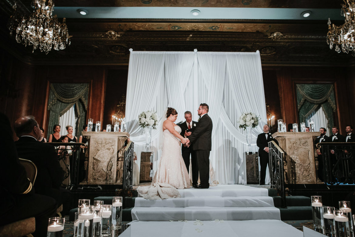 Elegant_Event_Lighting_Chicago_Intercontinental_Wedding_Ceremony_Draping_Aisle_Runner_White