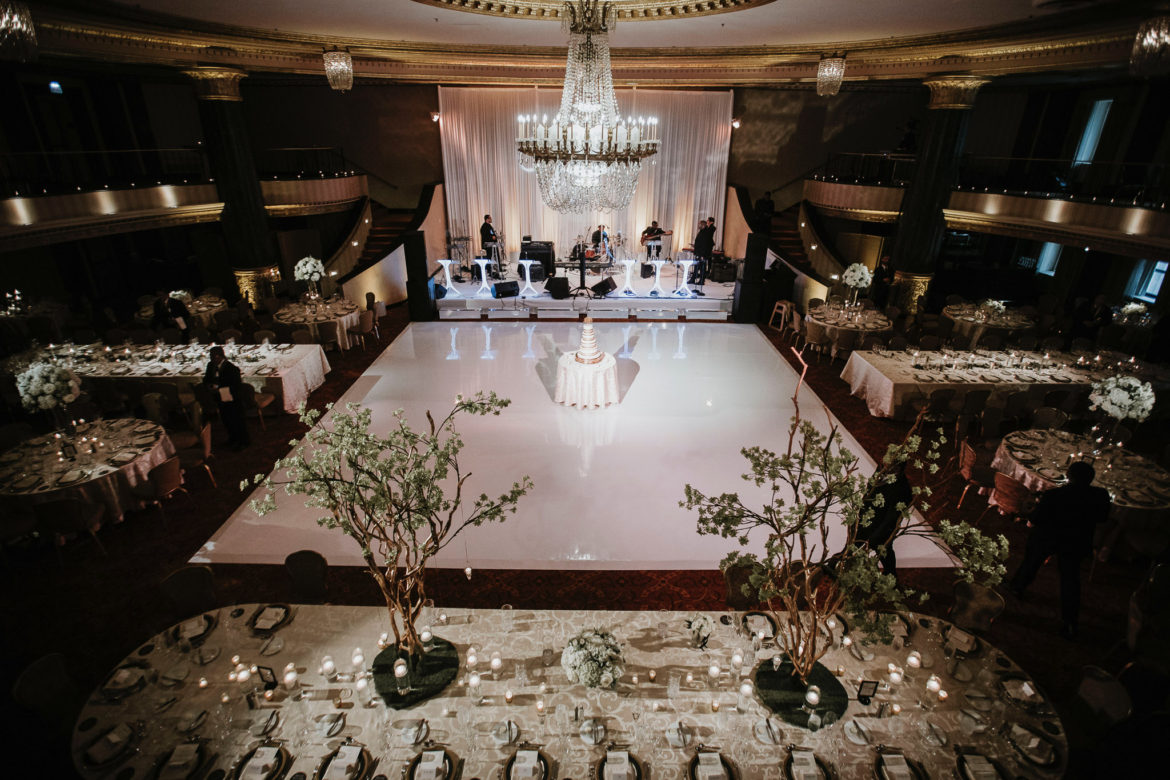 Elegant_Event_Lighting_Chicago_Intercontinental_Wedding_White_Dance_Floor_Draping_White_Lighting