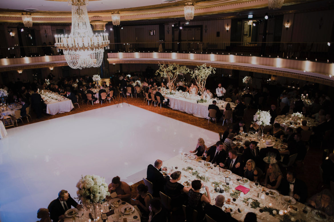 Elegant_Event_Lighting_Chicago_Intercontinental_Wedding_White_Dance_Floor_Reception