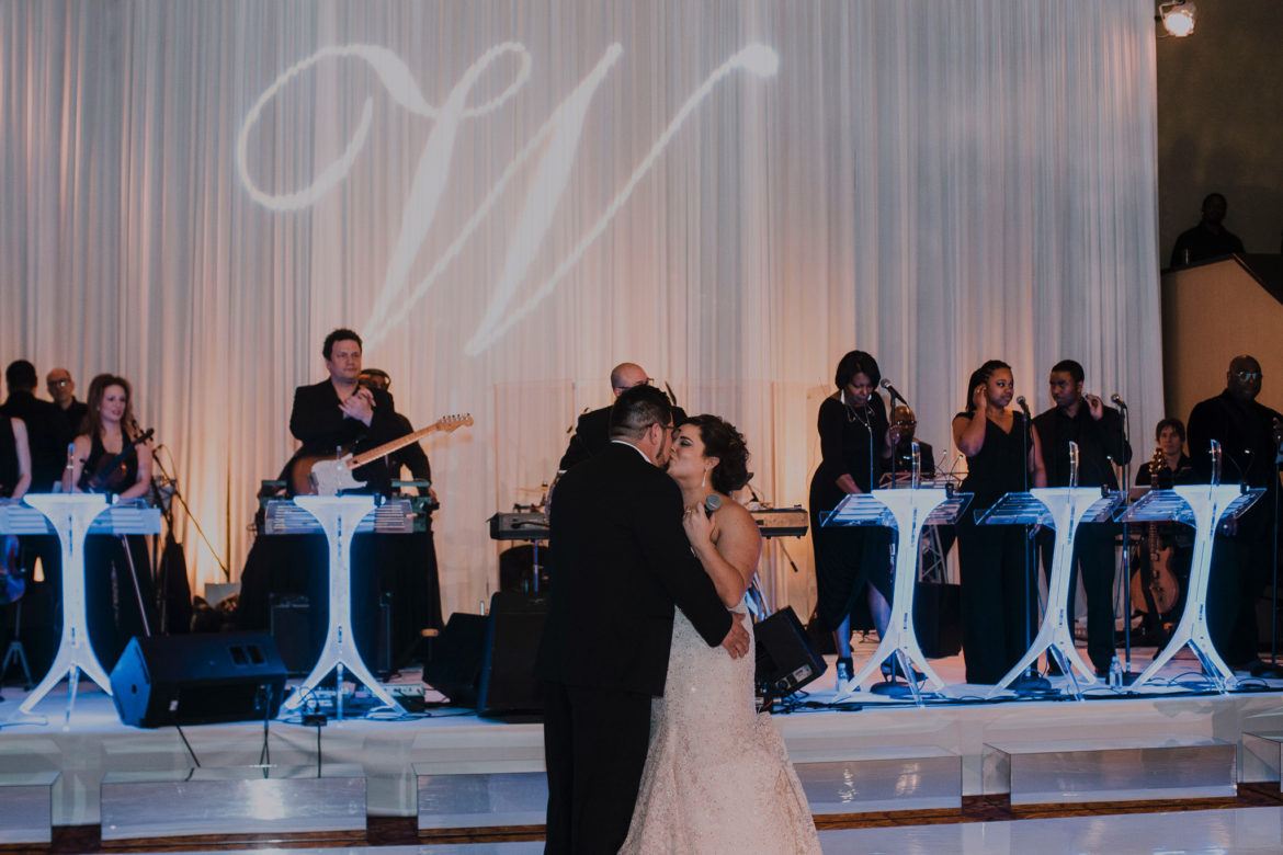 Elegant_Event_Lighting_Chicago_Intercontinental_Wedding_White_Draping_Monogram_Band