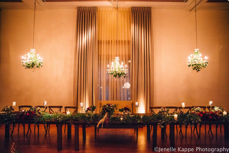 Elegant_Event_Lighting_Chicago_Ivy_Room_Wedding_Crystal_Chandelier_Greenery