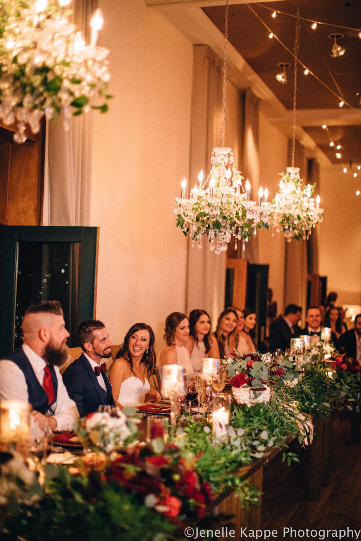 Elegant_Event_Lighting_Chicago_Ivy_Room_Wedding_Crystal_Chandelier_Greenery_Reception