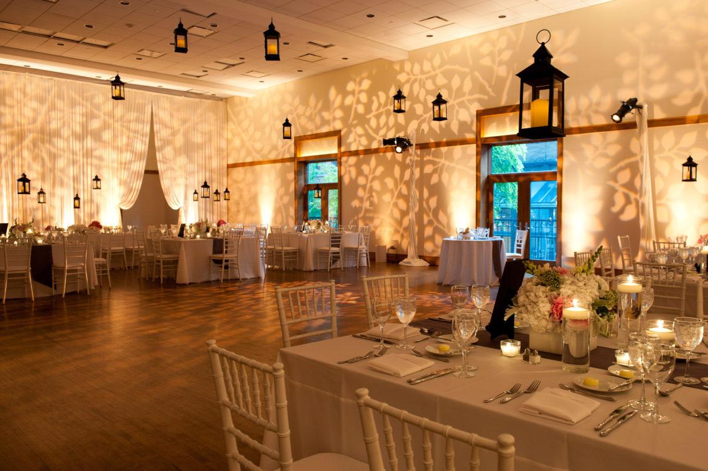 Elegant_Event_Lighting_Chicago_Ivy_Room_Wedding_Pattern_Lighting_Leaves_Draping_Hanging_Lanterns