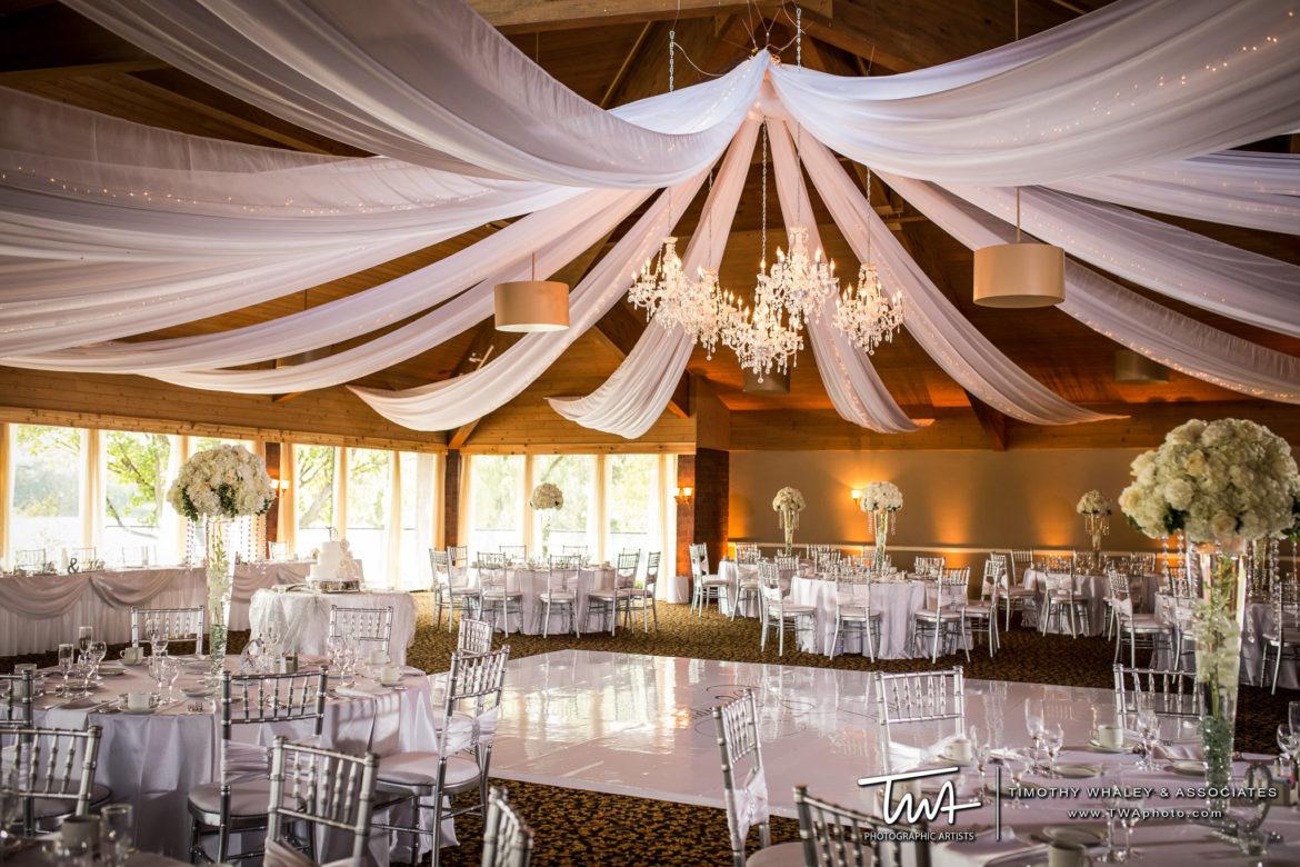 Elegant_Event_Lighting_Chicago_Kemper_Lakes_Kildeer_Wedding_Uplighting_Ceiling_Drapes_White_Vinyl_Dance_Floor_Crystal_Chandeliers