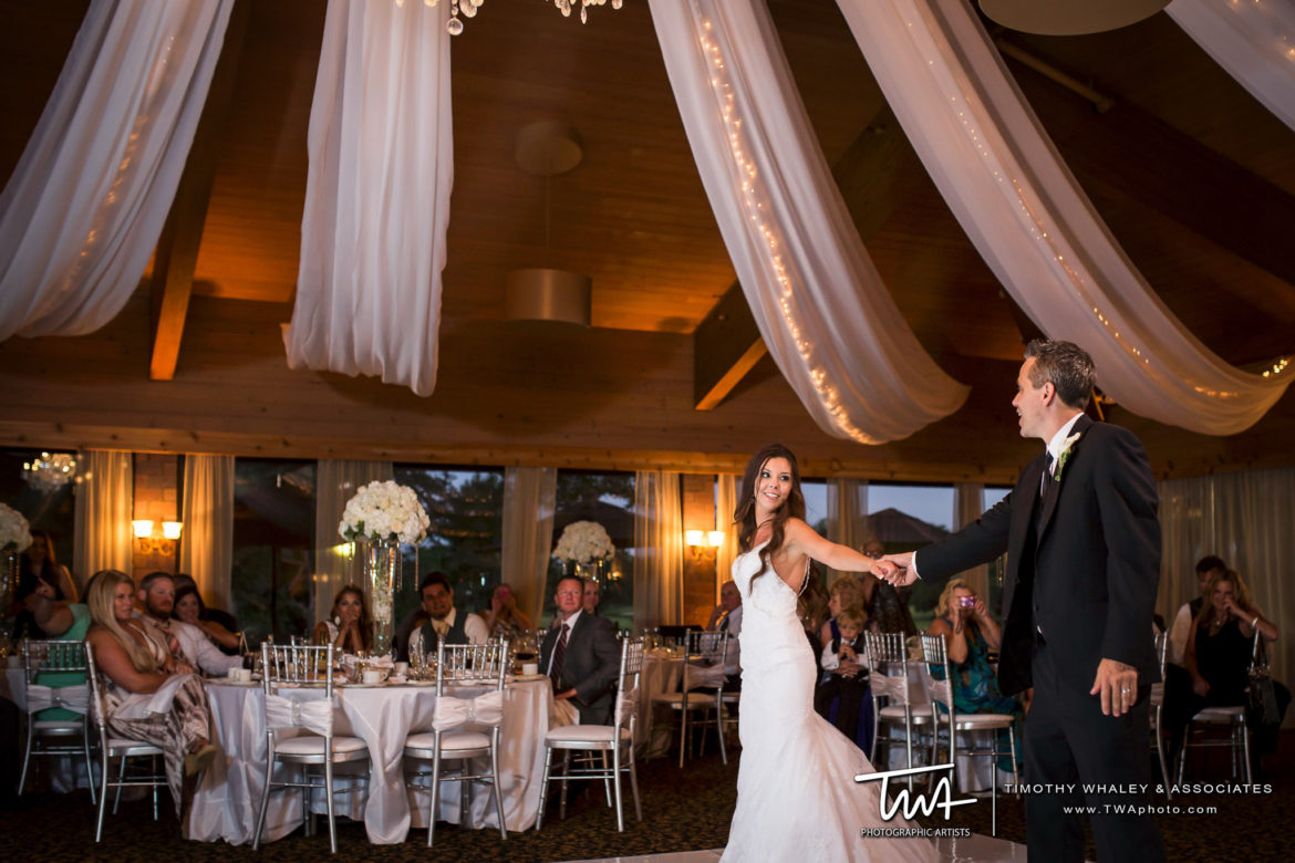 Elegant_Event_Lighting_Chicago_Kemper_Lakes_Kildeer_Wedding_Uplighting_Ceiling_Drapes_White_Vinyl_Dance_Floor_Crystal_Chandeliers_First_Dance
