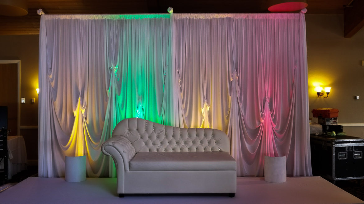 Elegant_Event_Lighting_Chicago_Kemper_Lakes_Kildeer_Wedding_Uplighting_Reception_Lights_White_Backdrop_Loveseat