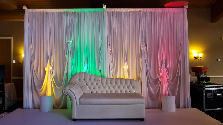Elegant_Event_Lighting_Chicago_Kemper_Lakes_Kildeer_Wedding_Uplighting_Reception_Lights_White_Backdrop_Loveseat
