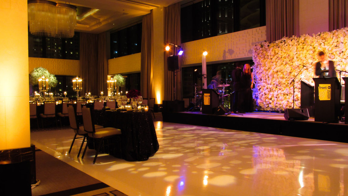 Elegant_Event_Lighting_Chicago_Langham_Wedding_Flower_Wall_PAttern_Dance_Floor_Lighting