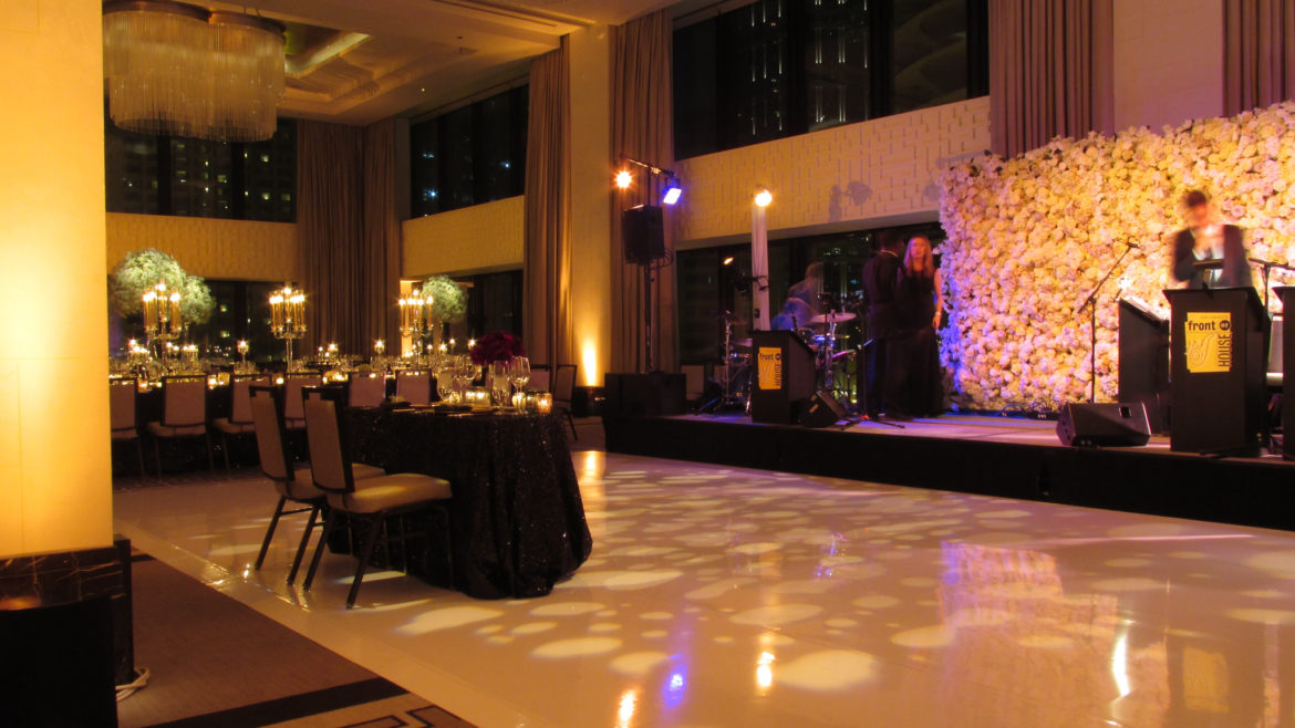 Elegant_Event_Lighting_Chicago_Langham_Wedding_White_Vinyl_Dance_Floor_City_View