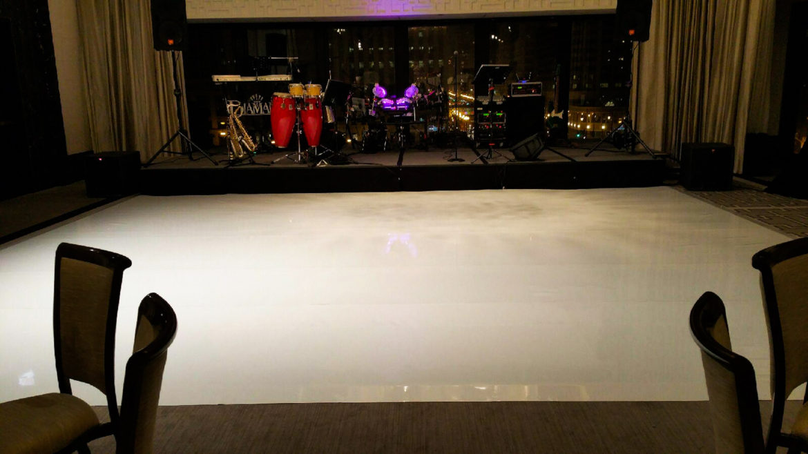 Elegant_Event_Lighting_Chicago_Langham_Wedding_Whtie_Vinyl_Dance_Floor_City_View